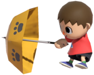 0.12.Red Villager opening an Umbrella
