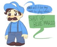 Blue Mario by JadeyArts