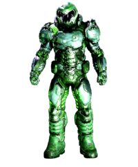Doom Slayer Neon Green