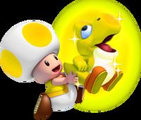 Glowing Baby Yoshi Mario game