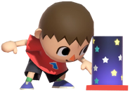 0.2.Red Villager preparing his Firework Fountain