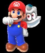 Mario and cappy render by nintega dario dd18su1-pre
