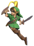 0.3.Young Link with a Bunny Hood Jumping
