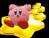 Kirby Surprised on Warp star