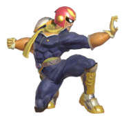 0.10.Captain Falcon winding up the Falcon Punch