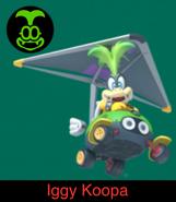 Iggy Koopa in Mario Kart 9