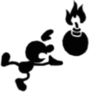 0.11.Mr. Game and Watch holding a Bomb