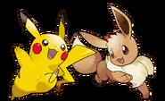 Pikachu and Eevee - Pokemon Let's Go