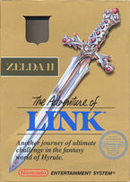Zelda II The Adventure of Link box