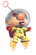 0.7.Olimar flying with his Jetpack