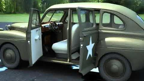 3D Model of Ford Fordor 1942 Staff Car - US Army