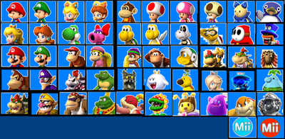 Mario Kart 8 U Selection Screen