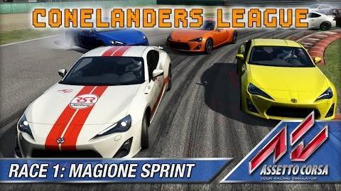 Assetto Corsa (Multiplayer) - Conelanders League - Race 1 Magione Sprint (12 lap)