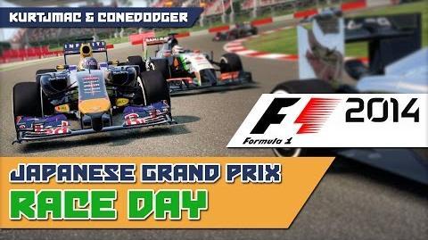 Apply Pressure - F1 2014 w ConeDodger - Japanese GP RACE