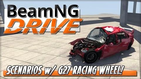 BeamNG DRIVE - Scenarios with Logitech G27 Racing Wheel