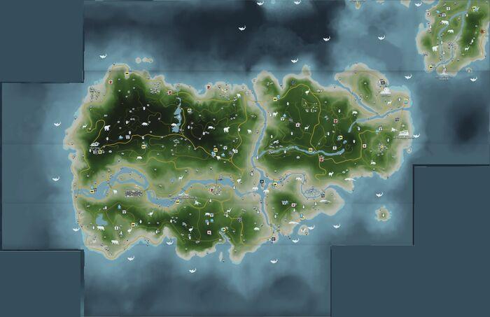 FC3 Южный остров Рук - карта всего