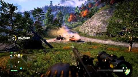 Far Cry 4 Best Weapon! - Pagan's Wrath Convoy Destruction! (Buzzsaw MG42)