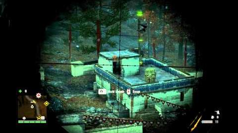 Far Cry 4 Best Sniper! Full Stealth Outpost (A50 Lynx Sniper)-2