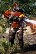 Royal Guard Heavy Flamer Commander