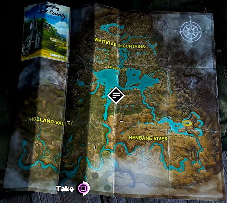 Silver Lake Region Map Far Cry Wiki Fandom