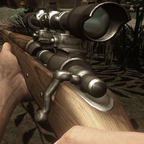 Die M1903 aus der Ego-Perspektive