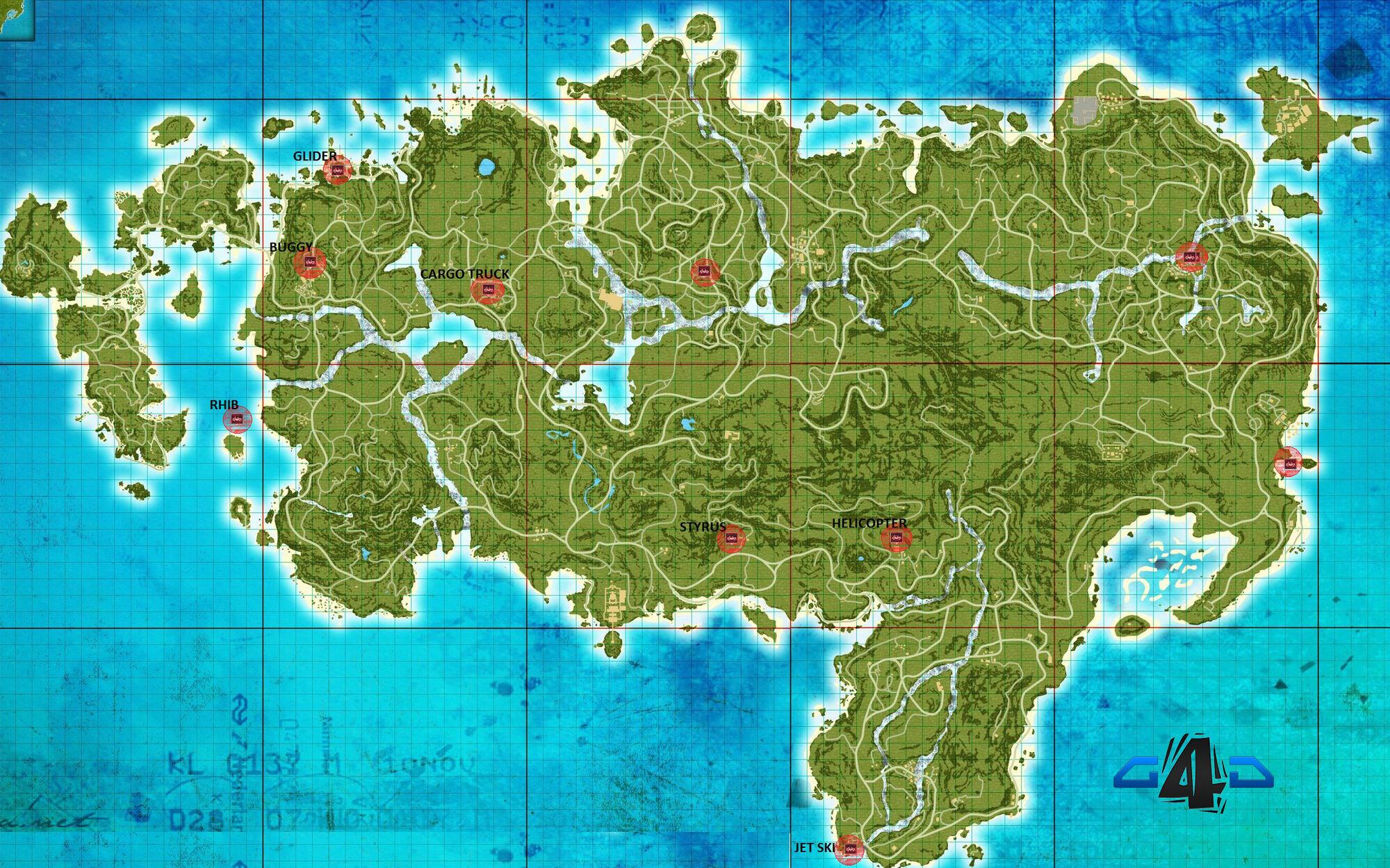 Image FarcryvehicleslocationmapGuideGameScomjpg Far - World map 3