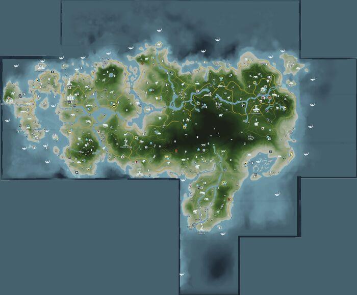 FC3 Северный остров Рук - карта всего