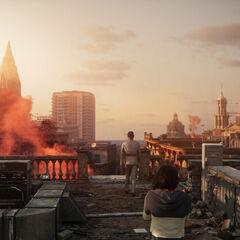 Screenshot przedstawiający miasto