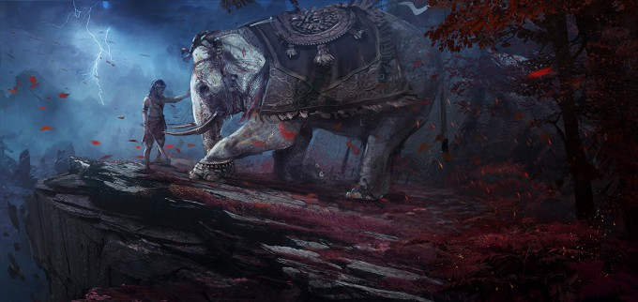 Far Cry 4 Wallpaper Elephant: Far Cry 4 Concept Art Kay Huang Elephant Kneelb