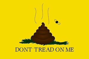 Pile of poop Dont tread on me