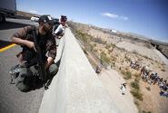 Redneck bundy jackasses protest sniper on bridge from bundy ranch standoff thread 8985624