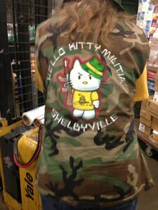 Hello kitty gadsden camo jacket