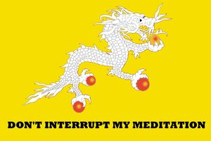 Bhutan Gadsden flag mash up don't tread on me