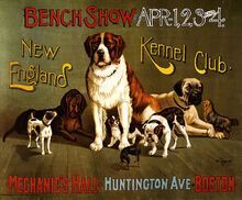 727px-New England Kennel Club bench show, promotional poster, ca. 1890