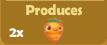 Produces 2x Carrots
