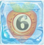 Carrot bomb 6 under ice