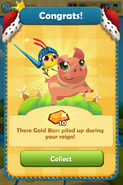 Treasure Mill Collect! Congrats! 10 Gold