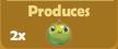 Produces 2x Apples