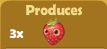 Produces 3x Strawberries