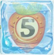 Carrot bomb 5 under ice