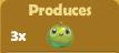 Produces 3x Apples