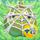 Apple under cobweb on grass 8x