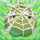 Apple under cobweb on grass