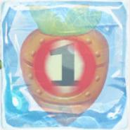 Carrot bomb 1 under ice