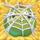 Apple under cobweb on hay
