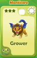 Grower Manticore
