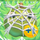 Apple under cobweb on grass 1x