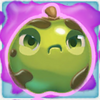 Apple grumpy on slime