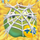 Apple under cobweb on hay 4x