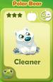 Cleaner Polar Bear
